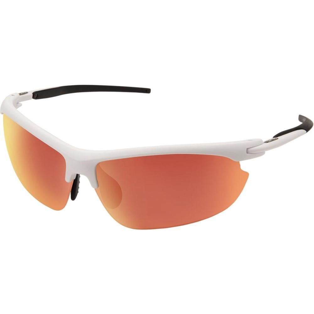 サンクラウド レディース スポーツサングラス【Slant Sunglasses - Polarized】Matte White/Red Mirror Polycarbonate/Contrast
