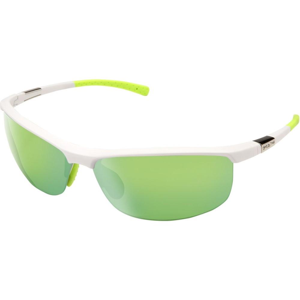 サンクラウド レディース スポーツサングラス【Tension Sunglasses - Polarized】Matte White/Green Mirror Polycarbonate/Contrast