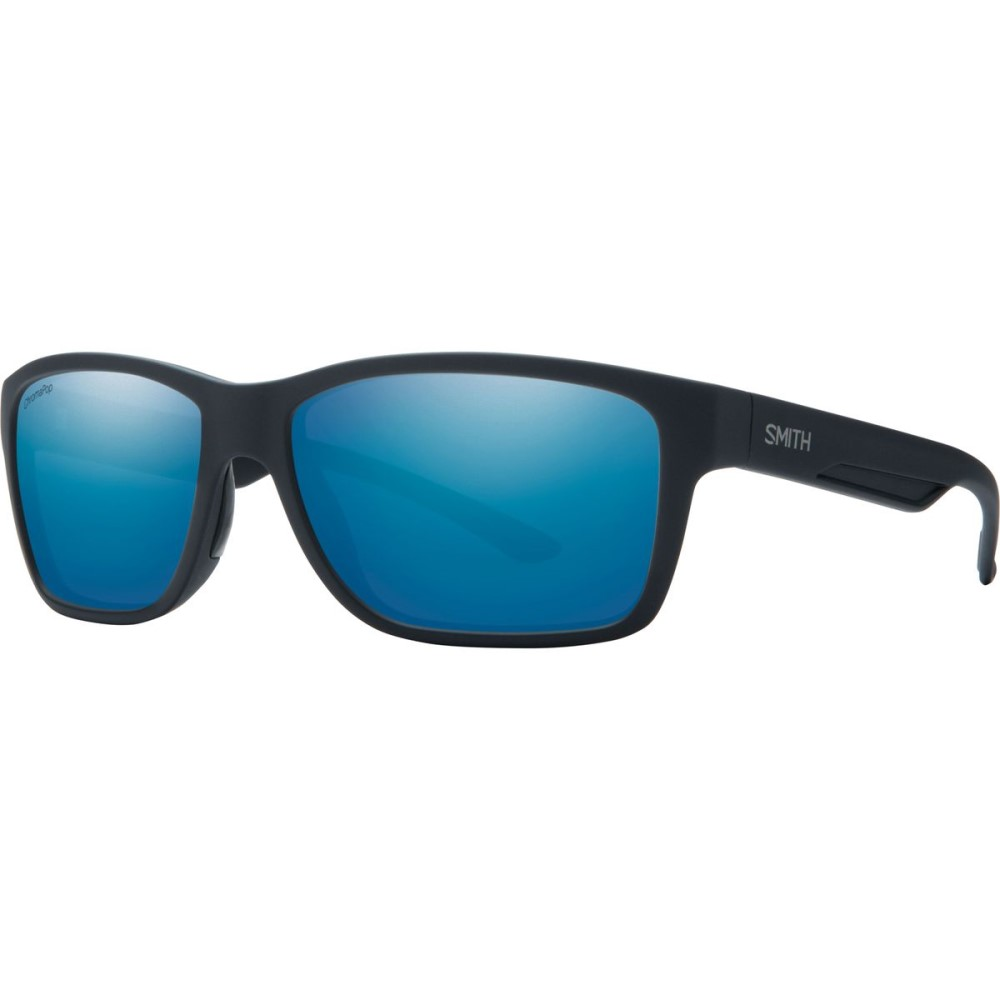 スミス メンズ スポーツサングラス【Wolcott ChromaPop+ Sunglasses - Polarized】Matte Black/Polarized Blue Mirror