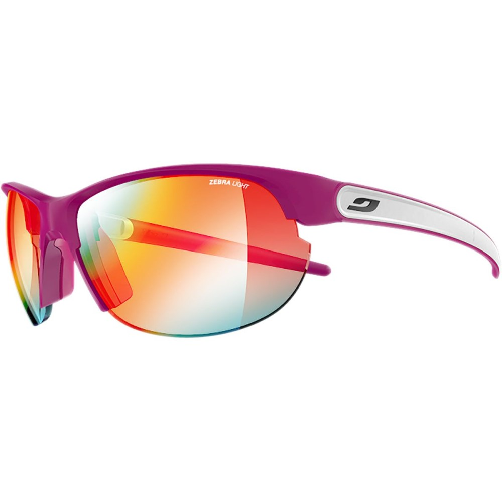 ジュルボ レディース スポーツサングラス【Breeze Zebra Photochromic Sunglasses】Purple/White/Zebra Light