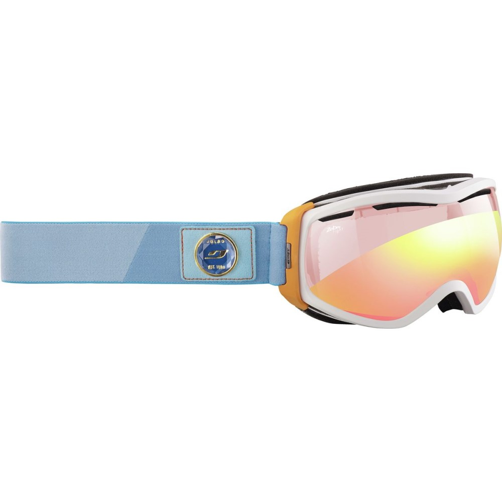 ジュルボ レディース スキー・スノーボード ゴーグル【Elara Goggles - Zebra Photochromic】White/Orange/Turquoise-Red