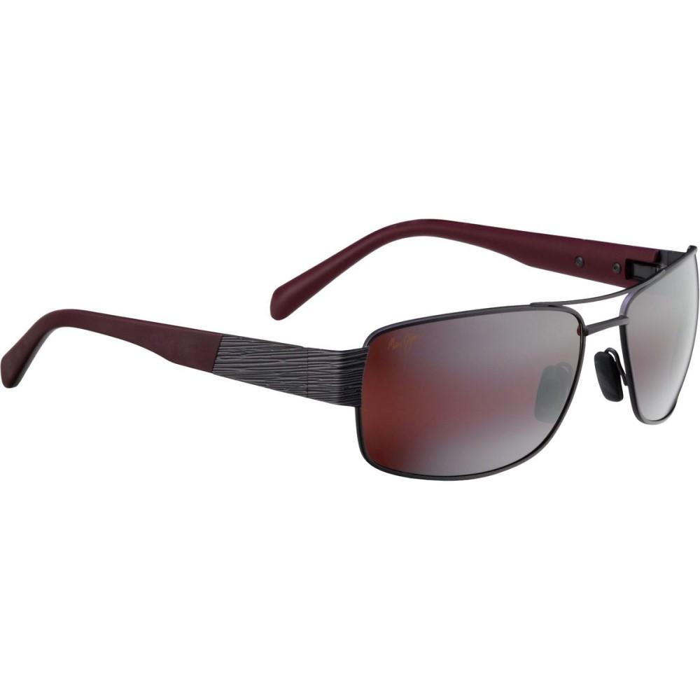 マウイジム レディース メガネ・サングラス【Ohia Sunglasses - Polarized】Satin Dark Gunmetal/Burgundy Tips/Maui Rose