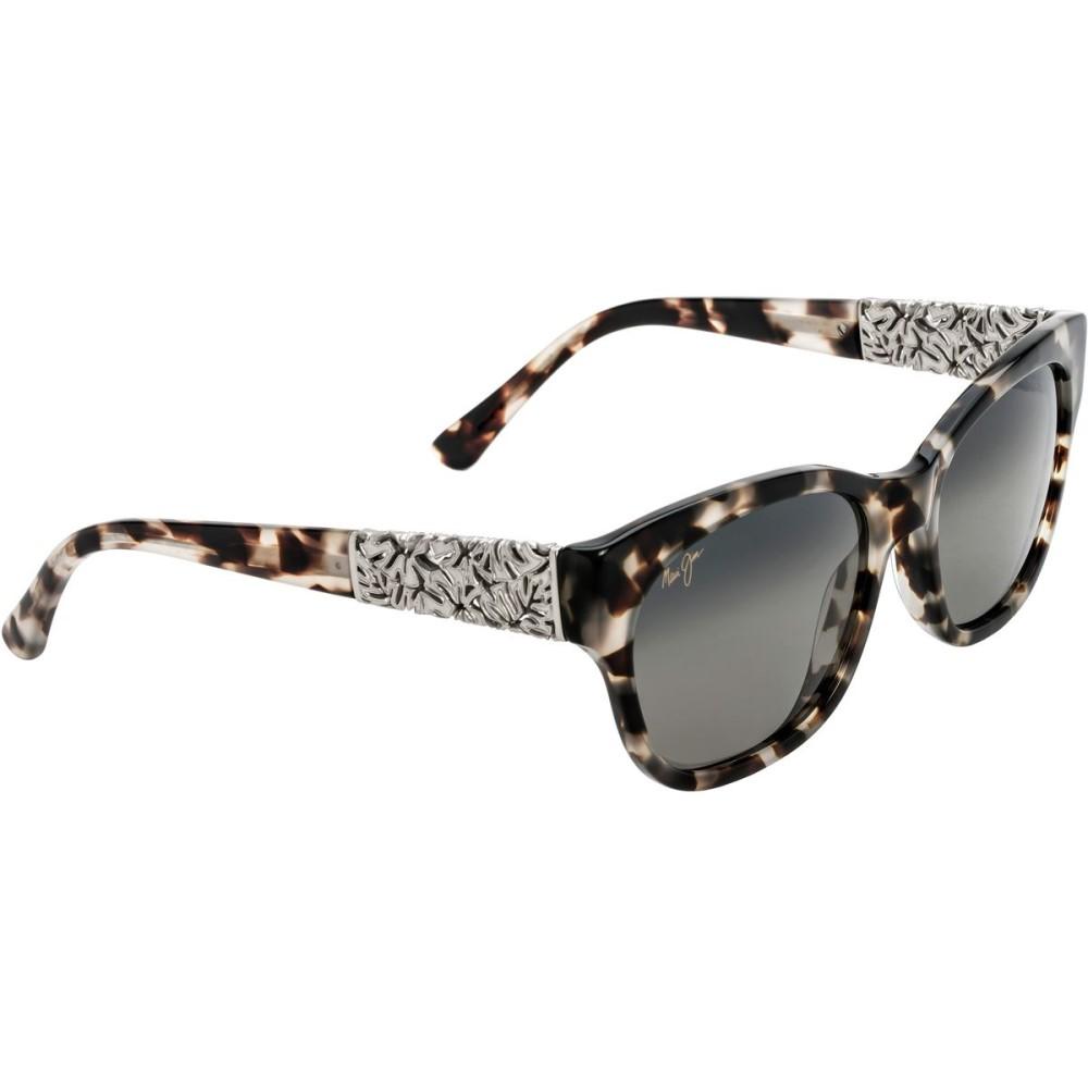 マウイジム レディース メガネ・サングラス【Monstera Leaf Sunglasses - Polarized】White Tokyo-White Gold Monstera/Neutral Grey