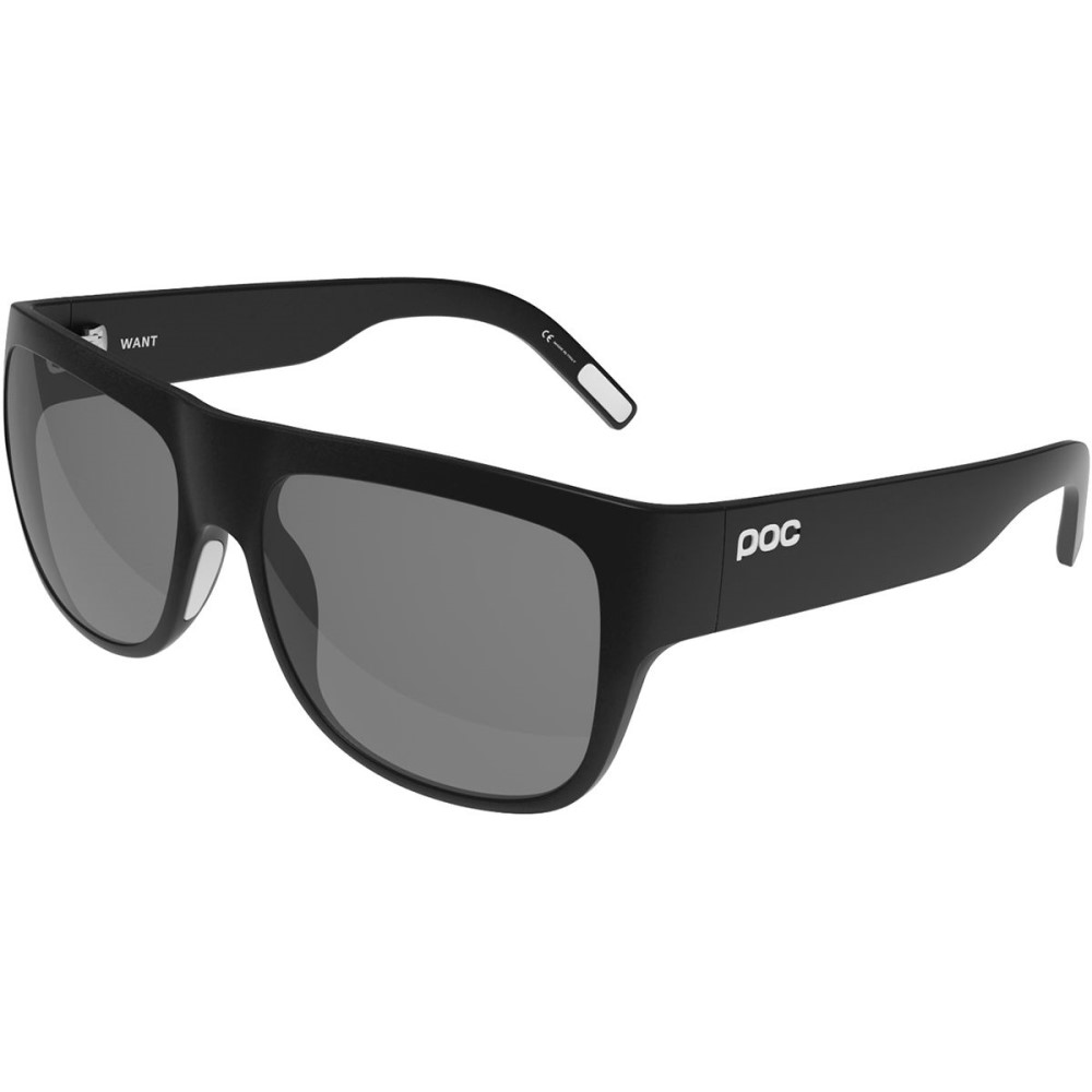 ピーオーシー レディース スポーツサングラス【Want Sunglasses】Uranium Black Translucent/Grey/White Mirror