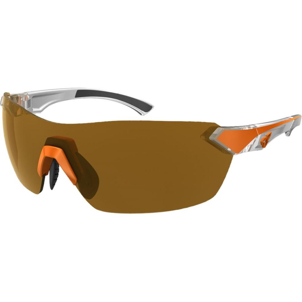 ライダーズ アイウェア レディース スポーツサングラス【Nimby Sunglasses - Anti - fog Lens】Orange-White / Brown