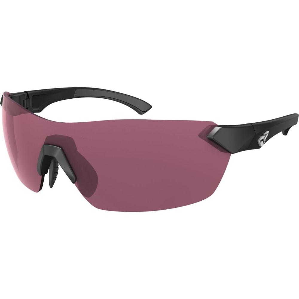 ライダーズ アイウェア レディース スポーツサングラス【Nimby Sunglasses - Anti - fog Lens】Poly Black Matte/Rose Lens Anti-Fog