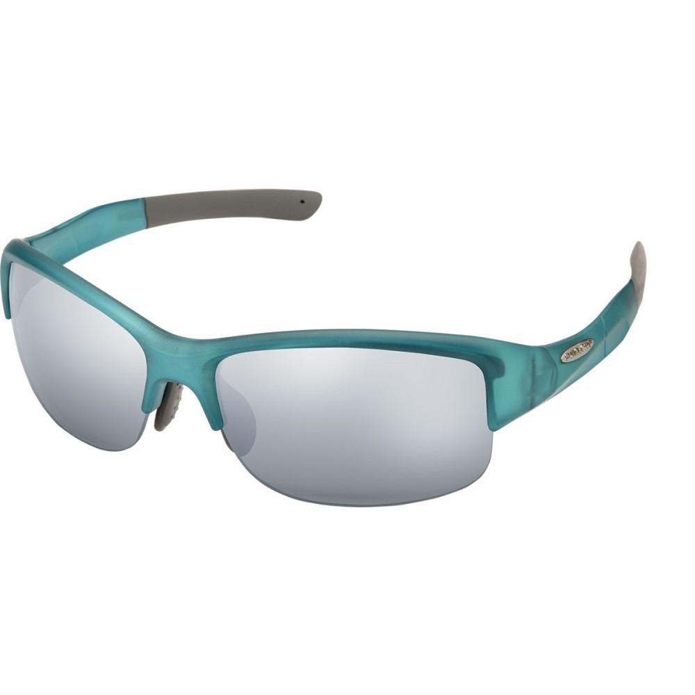 サンクラウド レディース スポーツサングラス【Torque Sunglasses - Polarized】Satin Teal/Silver Mirror Polycarbonate/Contrast
