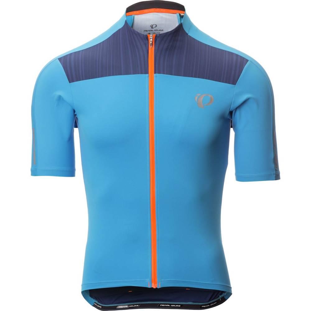 パールイズミ メンズ 自転車 トップス【ELITE Pursuit Jersey - Short - Sleeves】Bel Air Blue/Blue Depths Rush