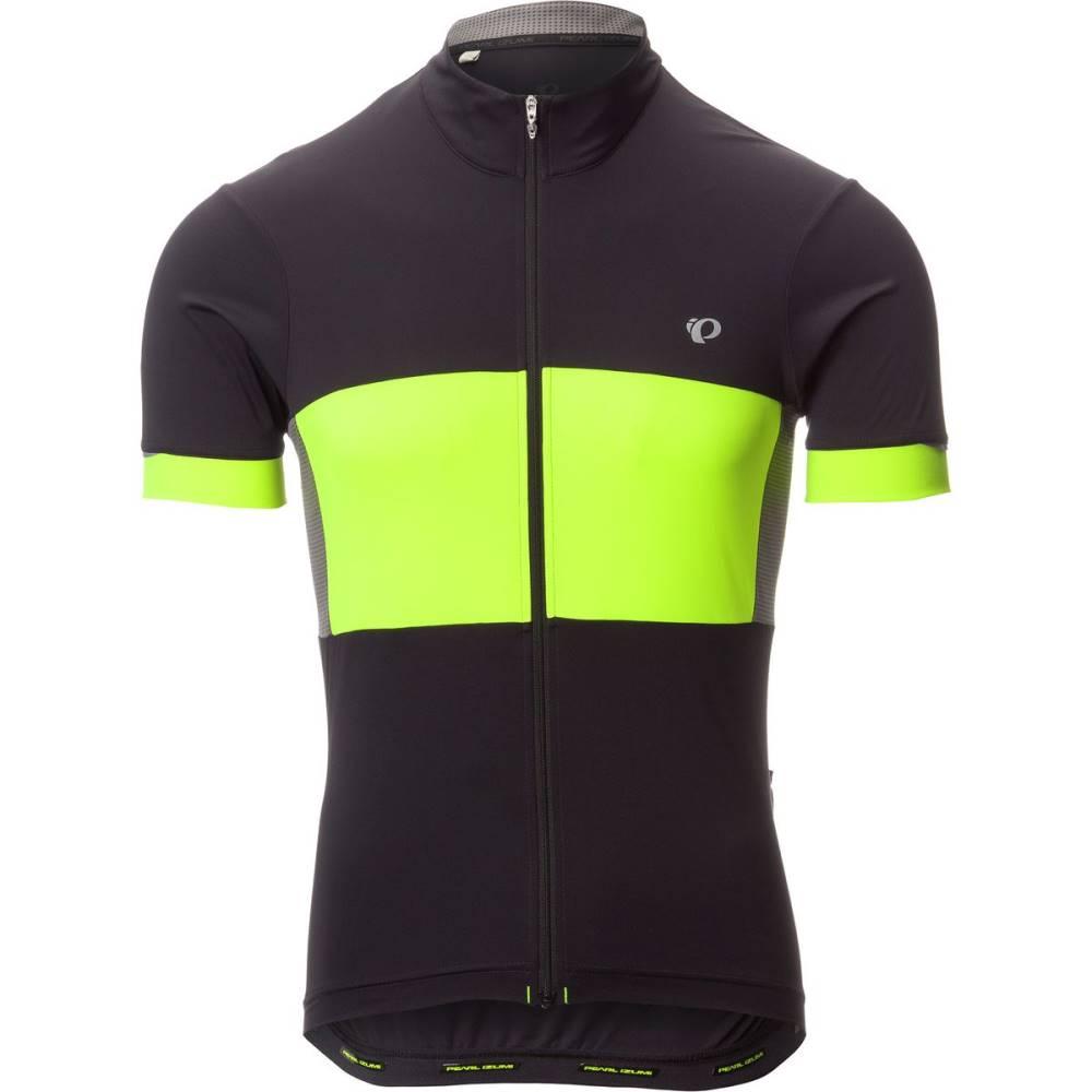 パールイズミ メンズ 自転車 トップス【ELITE Escape Semi - Form Jersey - Short Sleeves】Black/Screaming Yellow