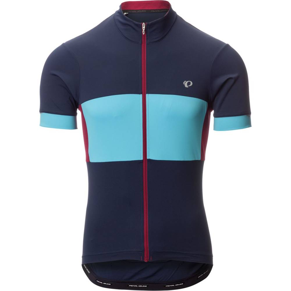 パールイズミ メンズ 自転車 トップス【ELITE Escape Semi - Form Jersey - Short Sleeves】Eclipse Blue/Blue Mist