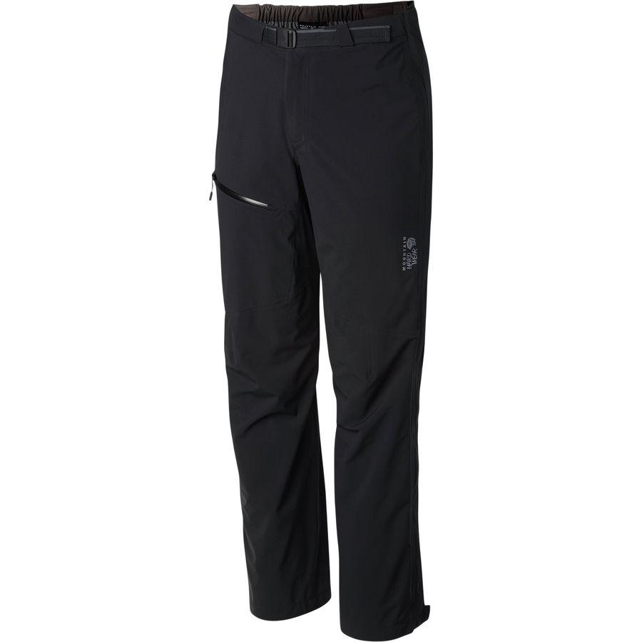マウンテンハードウェア Mountain Hardwear レディース ボトムス レインパンツ【Stretch Ozonic Pant】Black