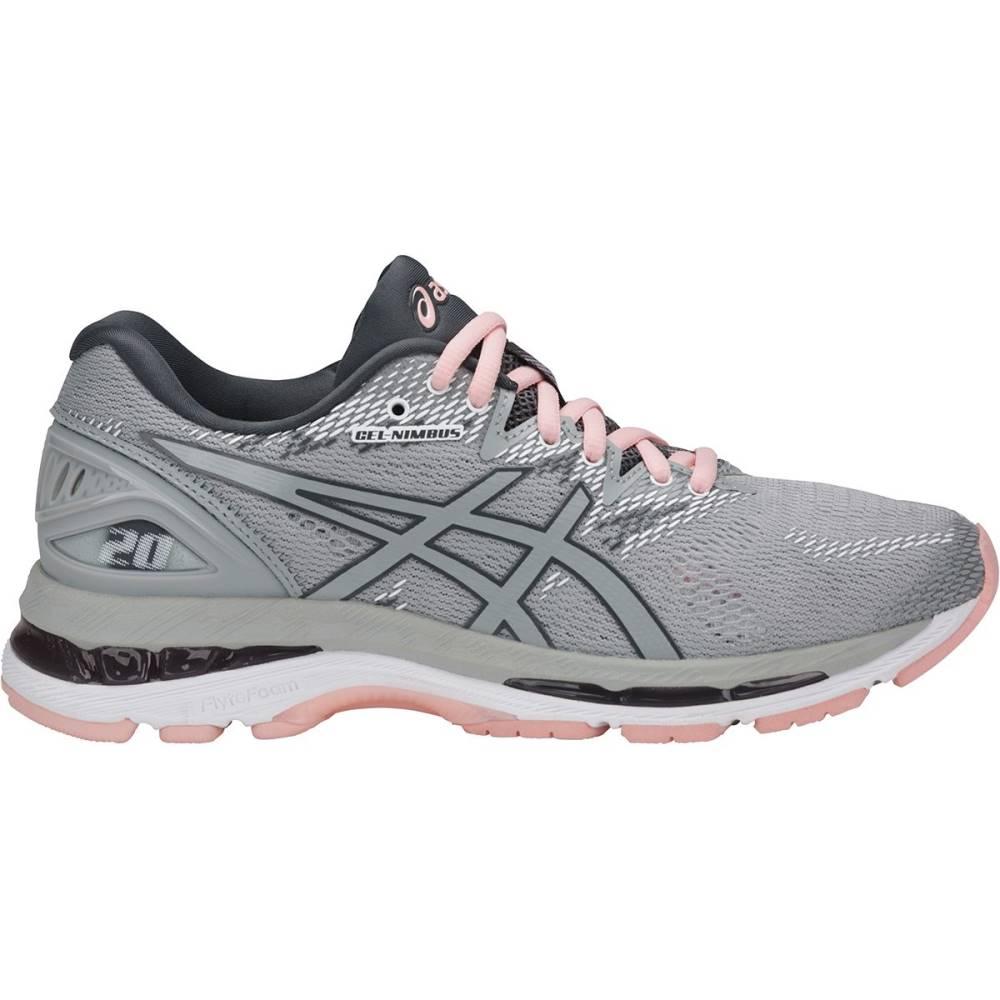 アシックス レディース ランニング・ウォーキング シューズ・靴【Gel - Nimbus 20 Running Shoe】Mid Grey/Mid Grey/Seashell Pink