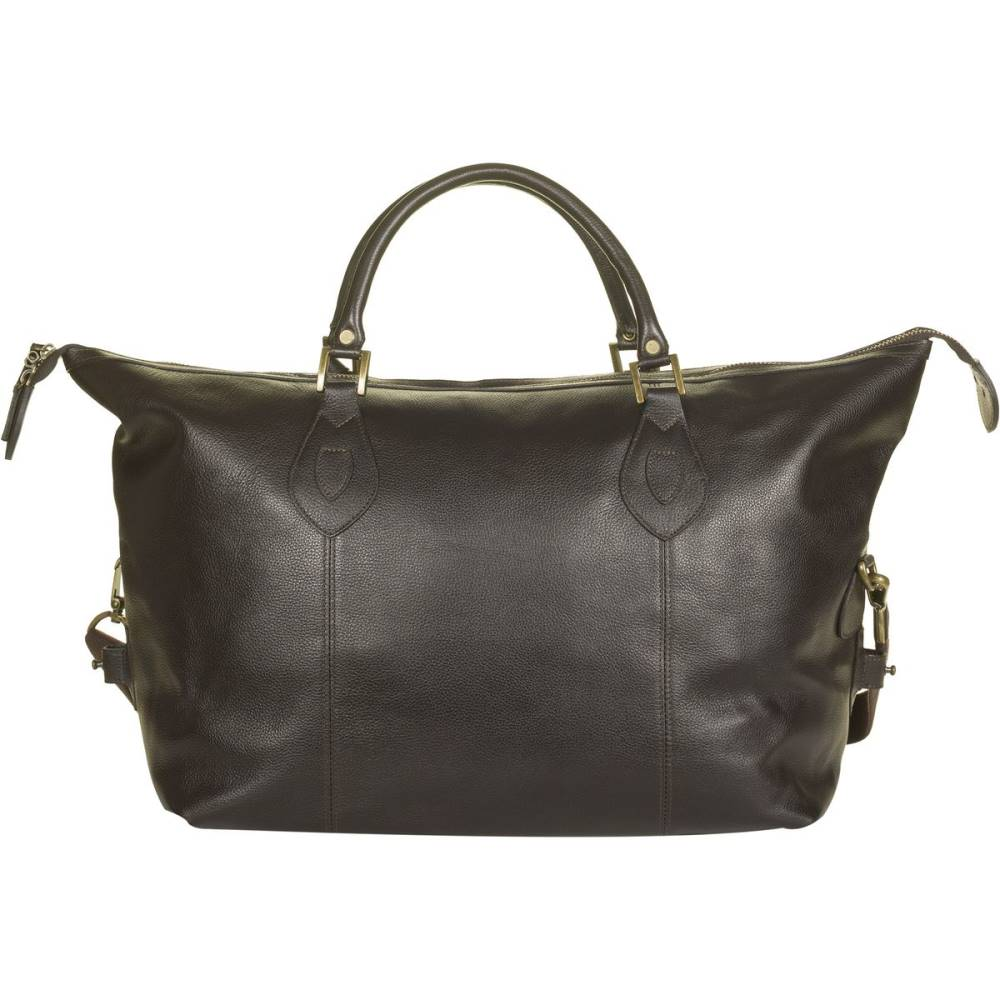 バーブァー レディース バッグ ボストンバッグ・ダッフルバッグ【Leather Med Travel Explorer Bag】Chocolate