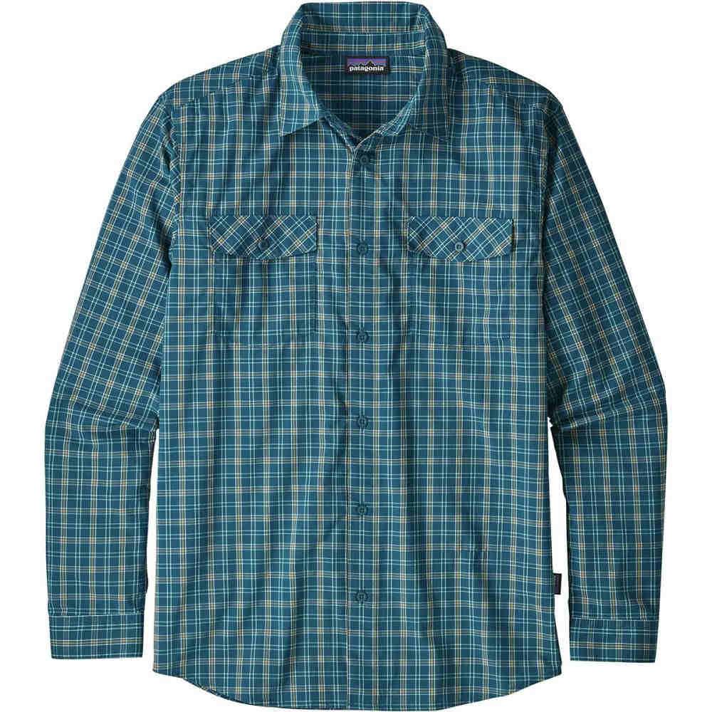 パタゴニア メンズ トップス シャツ【High Moss Long - Sleeve Shirts】Summit/Big Sur Blue