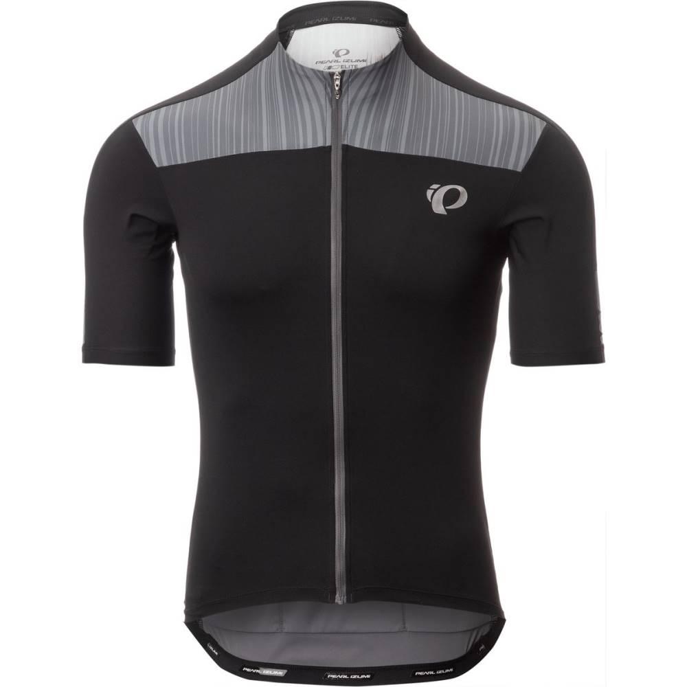 パールイズミ メンズ 自転車 トップス【ELITE Pursuit Jersey - Short - Sleeves】Black/Smoked Pearl Rush