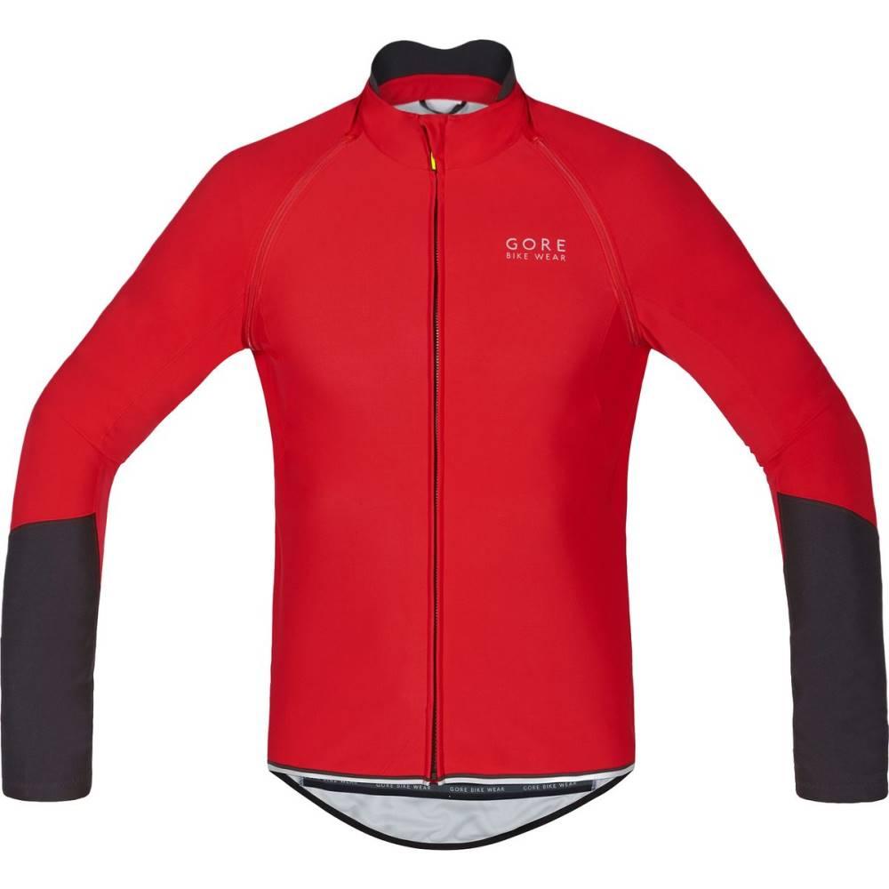 ゴアバイクウェア メンズ 自転車 トップス【Power Windstopper Softshell Zip - Off Jersey - Long - Sleeves】Red/Black