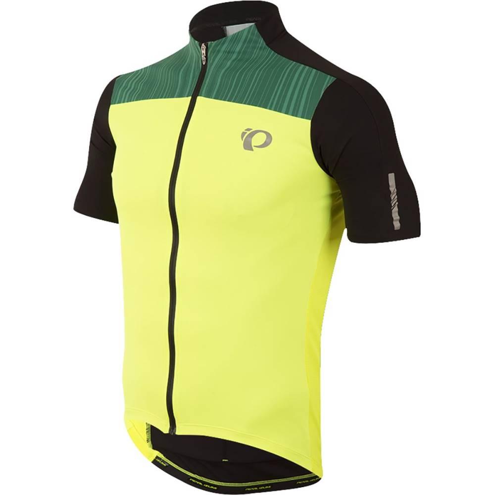 パールイズミ メンズ 自転車 トップス【ELITE Pursuit Jersey - Short - Sleeves】Screaming Yellow/Black Rush
