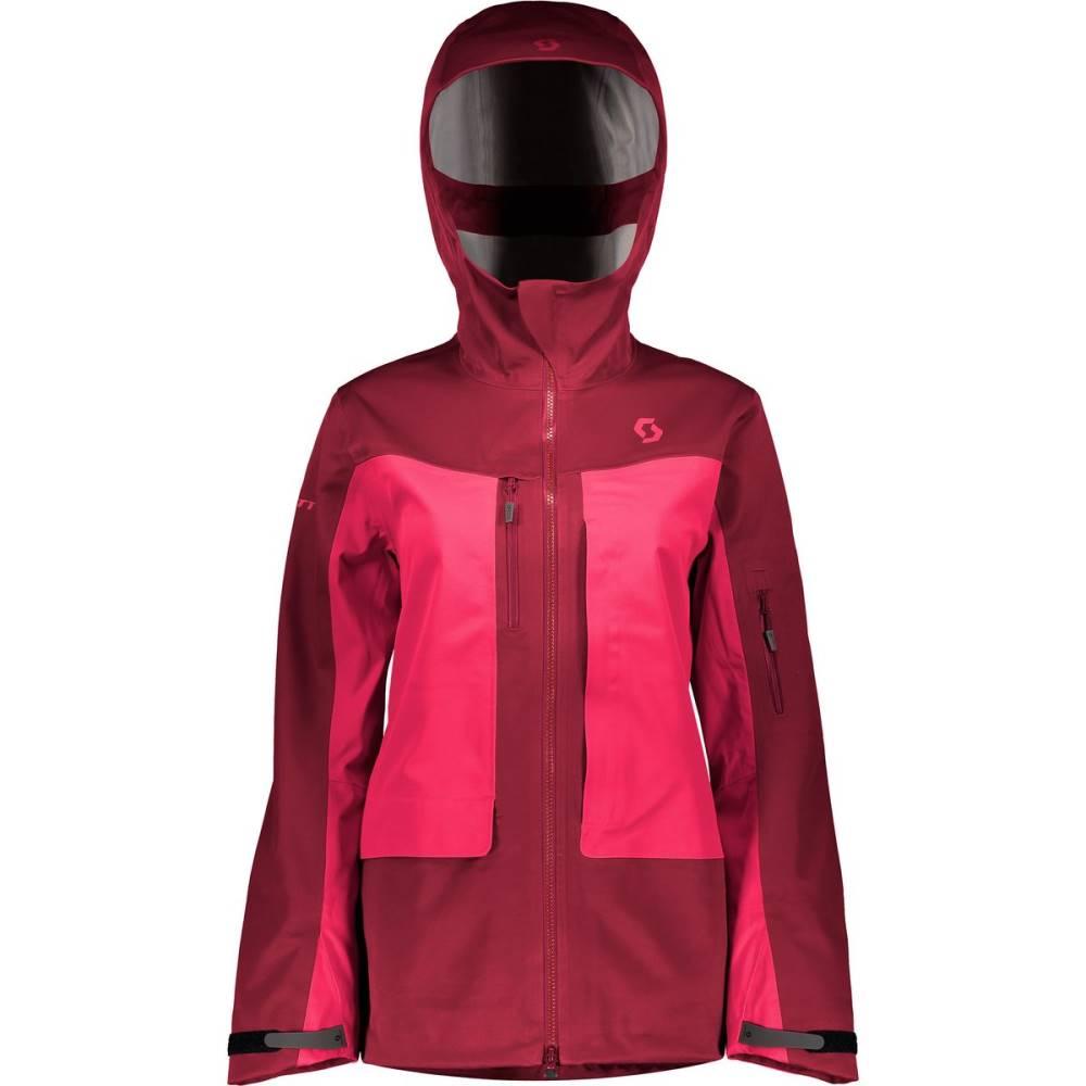 スコット レディース スキー・スノーボード アウター【Vertic 3L Hooded Jacket】Mahogany Red/Ruby Red, しあわせワイン倶楽部:380c1ea6 --- genx.jp