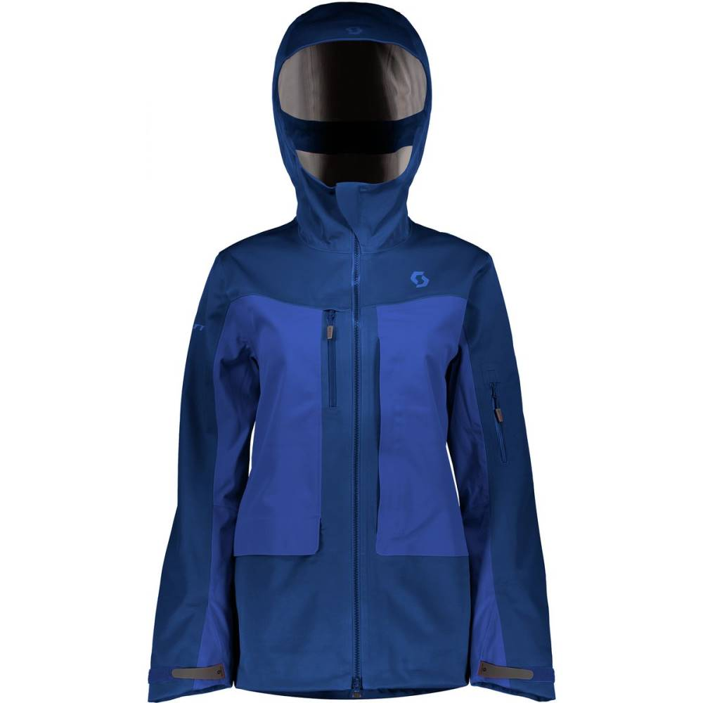 スコット レディース スキー・スノーボード アウター【Vertic 3L Hooded Jacket】Pacific Blue/Galaxy Blue