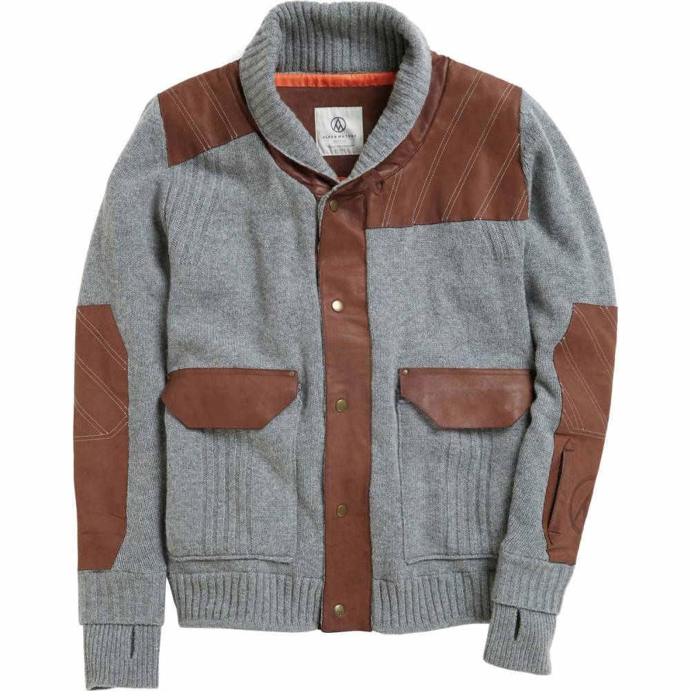 アルプス&メーターズ メンズ スキー・スノーボード アウター【Shawl Collar Jackets】Heather Grey