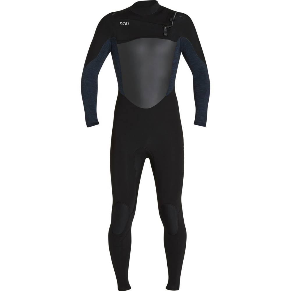見事な創造力 エクセルハワイ メンズ 水着・ビーチウェア ウェットスーツ【Infiniti 3/2 Chest - Zip Wetsuits】Black/Blue, CafedeMuche 8ad9994c