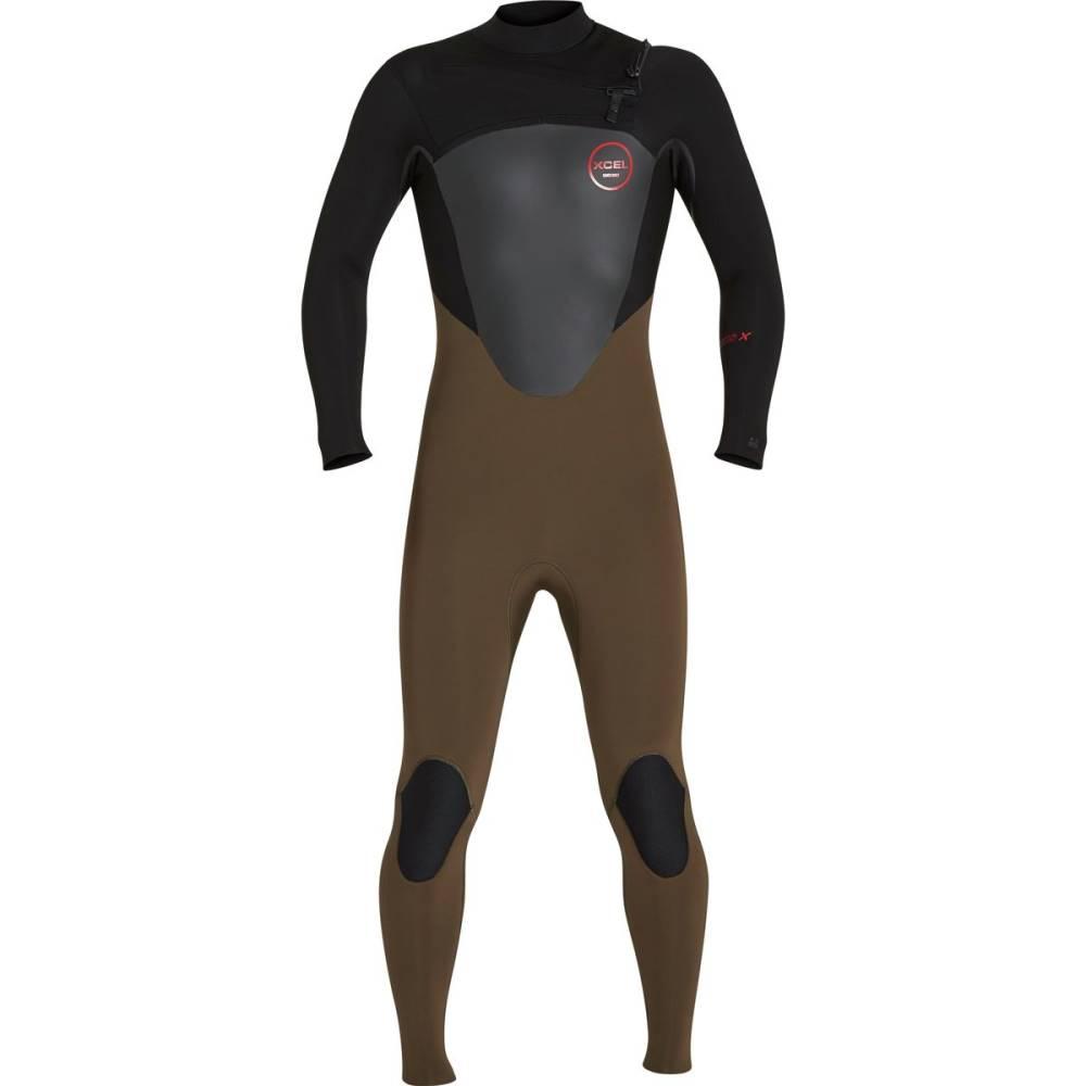 エクセルハワイ メンズ 水着・ビーチウェア ウェットスーツ【Axis 4/3 Front - Zip Wetsuits】Dark Beech/ Black