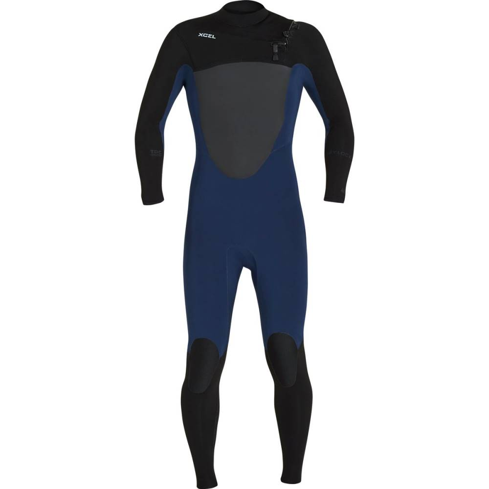 エクセルハワイ メンズ 水着・ビーチウェア ウェットスーツ【Drylock 3/2mm TDC Full Wetsuits】Ink Blue/ Black