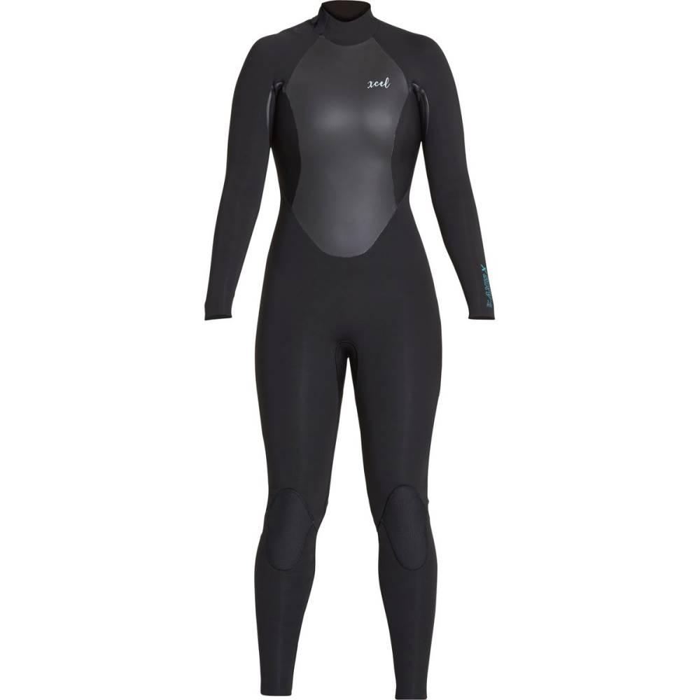 エクセルハワイ レディース 水着・ビーチウェア ウェットスーツ【Axis 3/2 Back - Zip Wetsuit】Black/Faience Blue