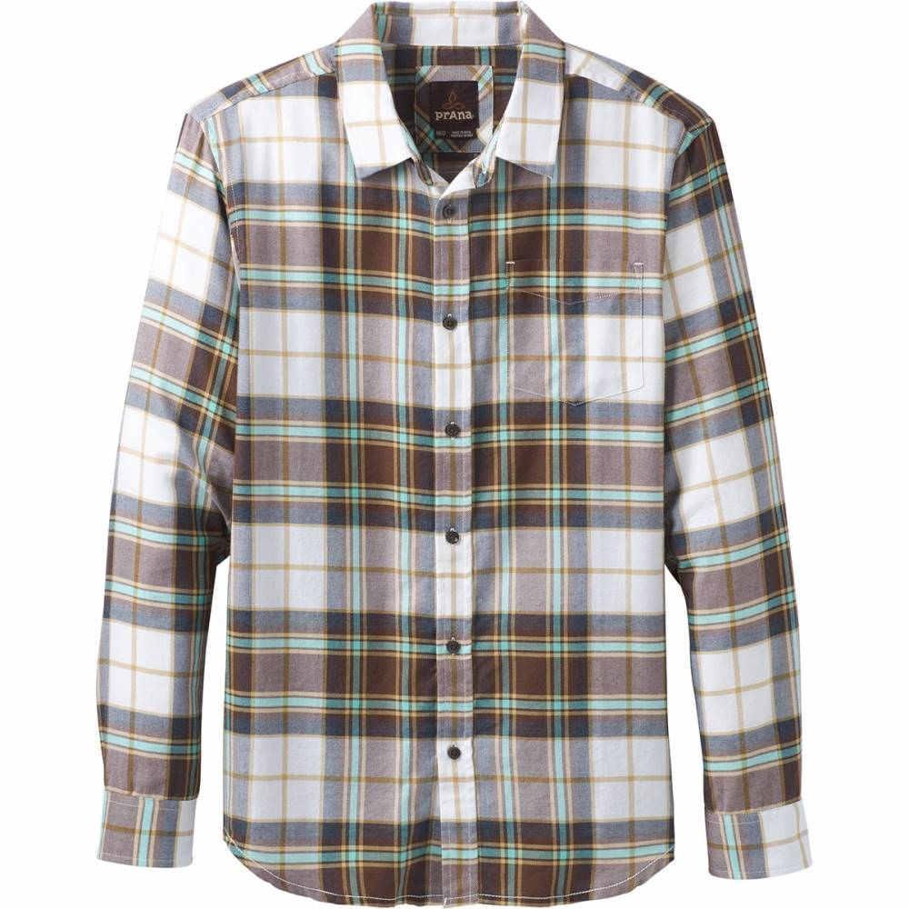 プラーナ メンズ トップス シャツ【Shayne Long - Sleeve Flannels】Brown Cloves