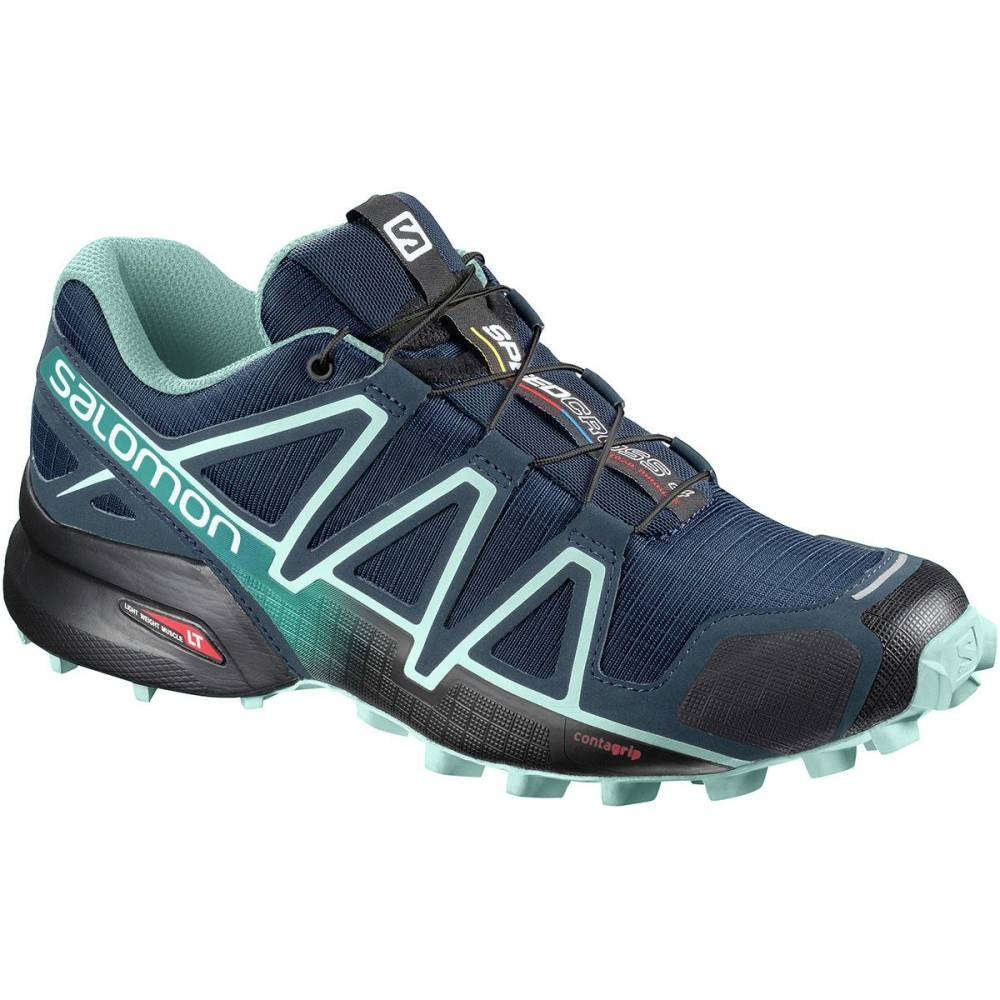 格安人気 サロモン サロモン Trail レディース ランニング・ウォーキング シューズ・靴【Speedcross 4 Trail Running Running Shoe】Poseidon/Eggshell Blue/Black, ナカゴウムラ:070a9778 --- totem-info.com