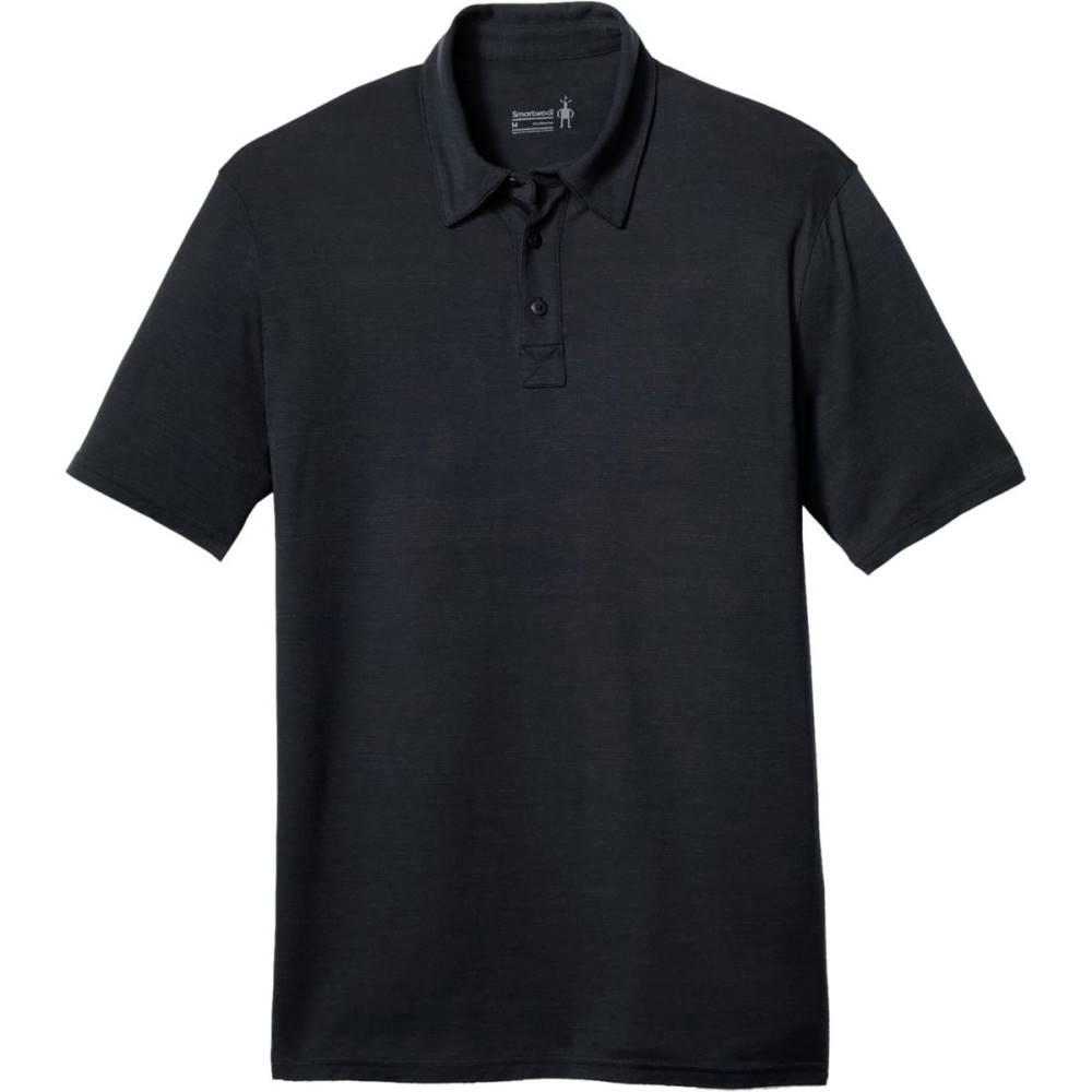 スマートウール メンズ トップス ポロシャツ【Merino 150 Pattern Polo Shirts】Charcoal