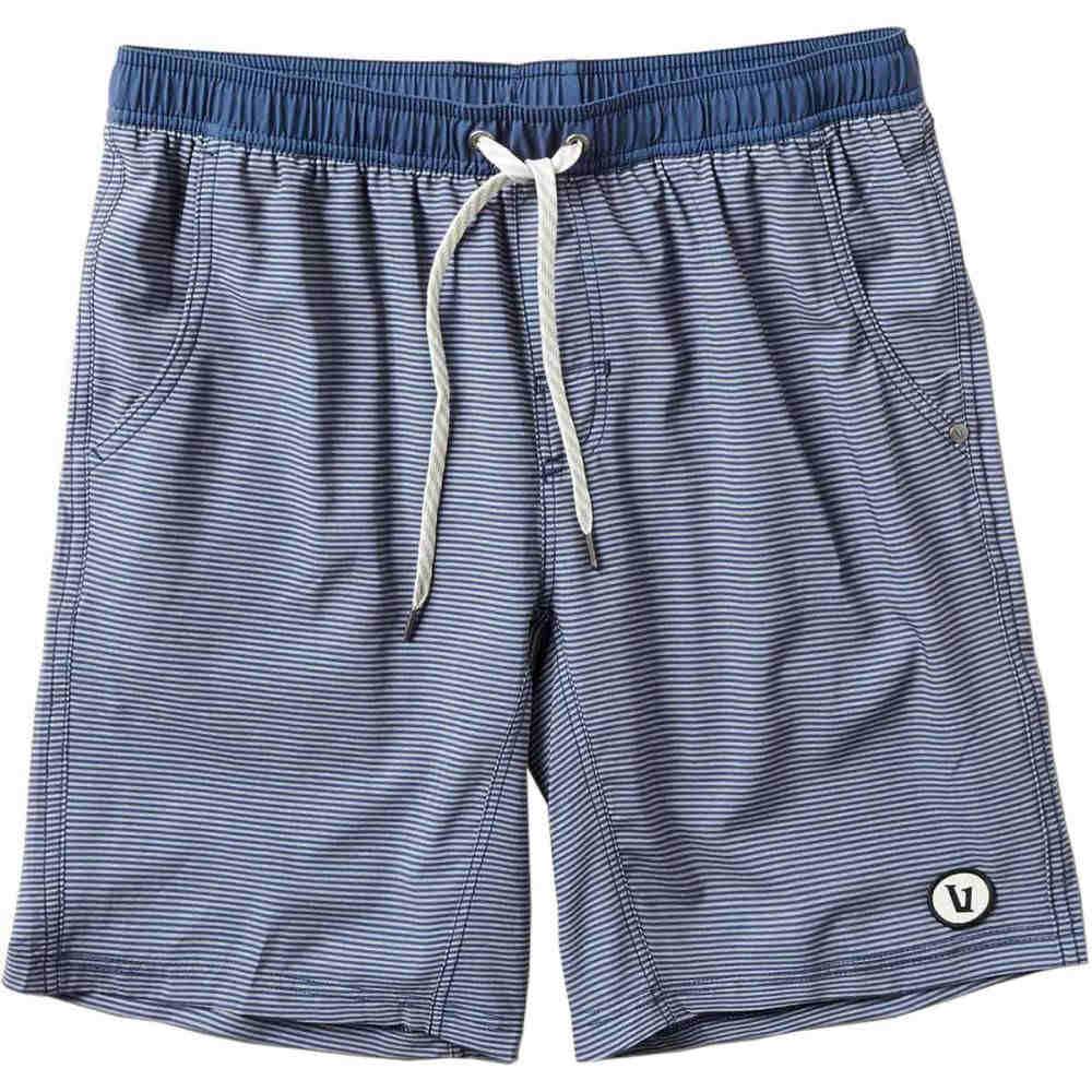ヴォリ メンズ フィットネス・トレーニング ボトムス・パンツ【Kore Shorts】Navy Charcoal Stripe