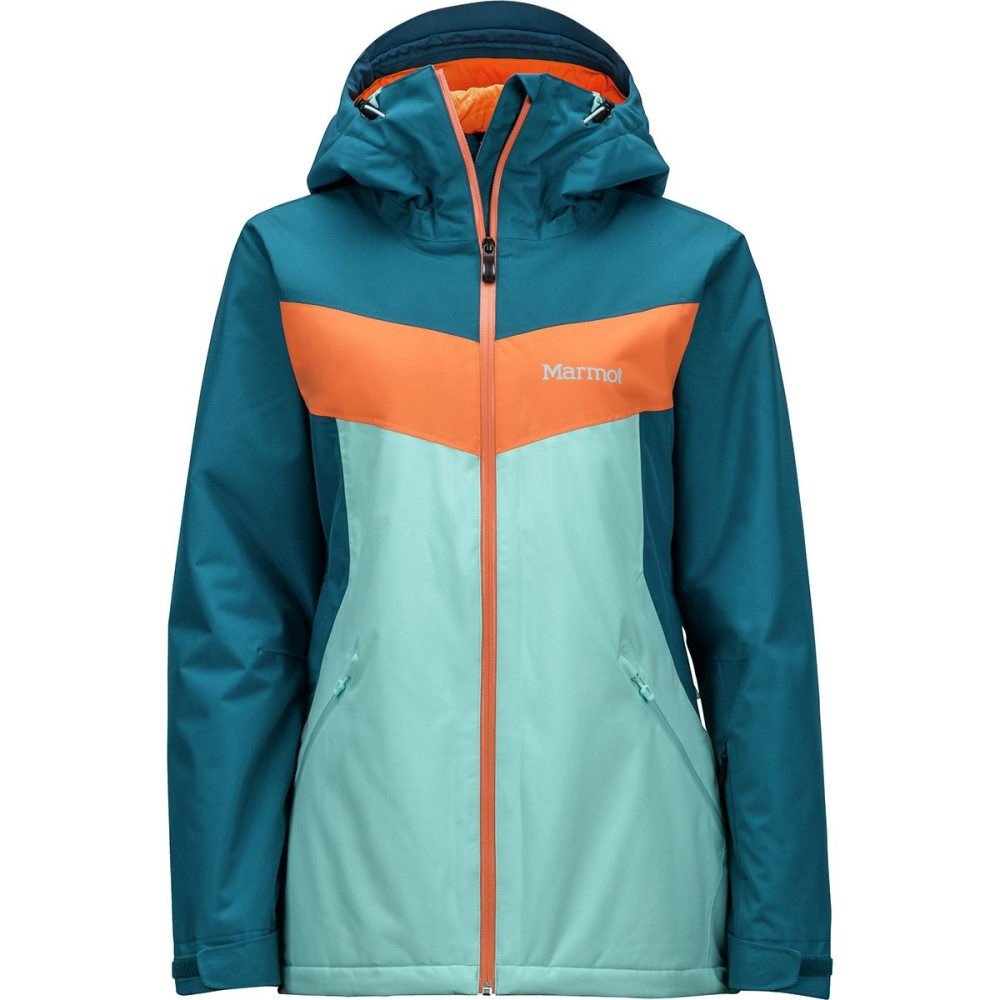マーモット レディース スキー・スノーボード アウター【Ambrosia Jacket】Blue Tint/Late Night