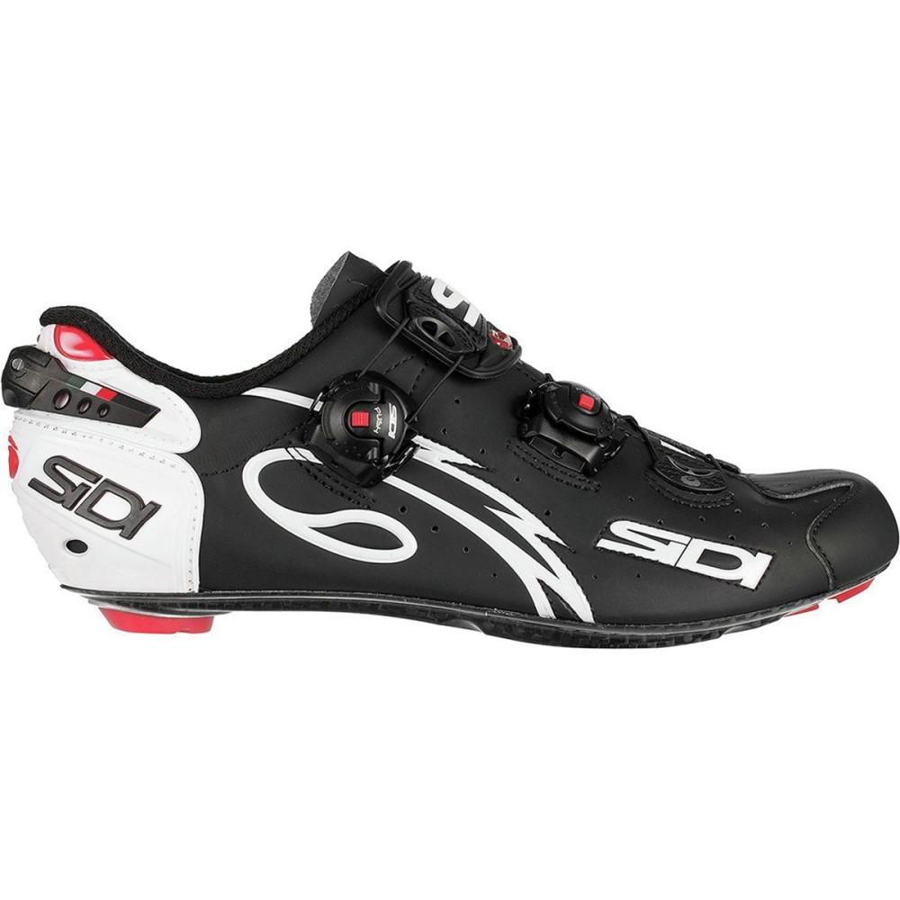 シディー メンズ 自転車 シューズ・靴【Wire Push Cycling Shoes】White/Matte Black