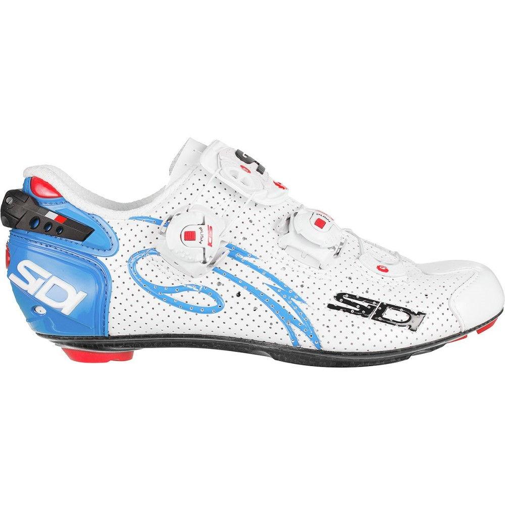 シディー レディース 自転車 シューズ・靴【Wire Carbon Air Push Shoes】White/Light Blue