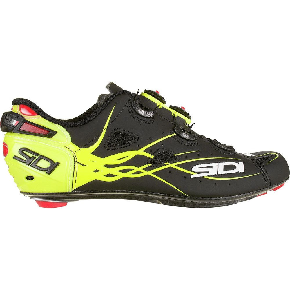 シディー メンズ 自転車 シューズ・靴【Shot Vent Carbon Cycling Shoes】Flo Yellow/Matte Black