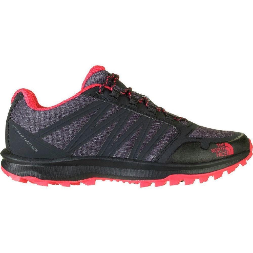 ザ ノースフェイス レディース ハイキング・登山 シューズ・靴【Litewave Fastpack Hiking Shoe】Phantom Grey Heather Print/Cayenne Red