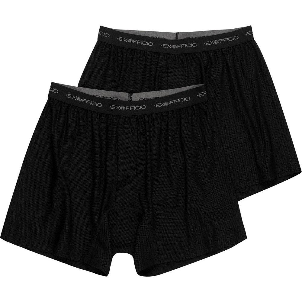エクスオフィシオ メンズ インナー・下着 ボクサーパンツ【Give - N - Go Boxers - 2 - Pack】Black