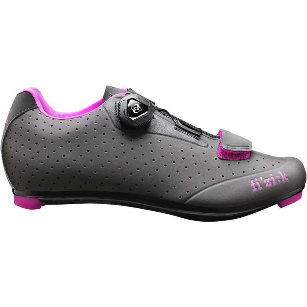フィジーク レディース 自転車 シューズ・靴【R5 Donna Boa Shoes】Anthracite With Fuschia Trim