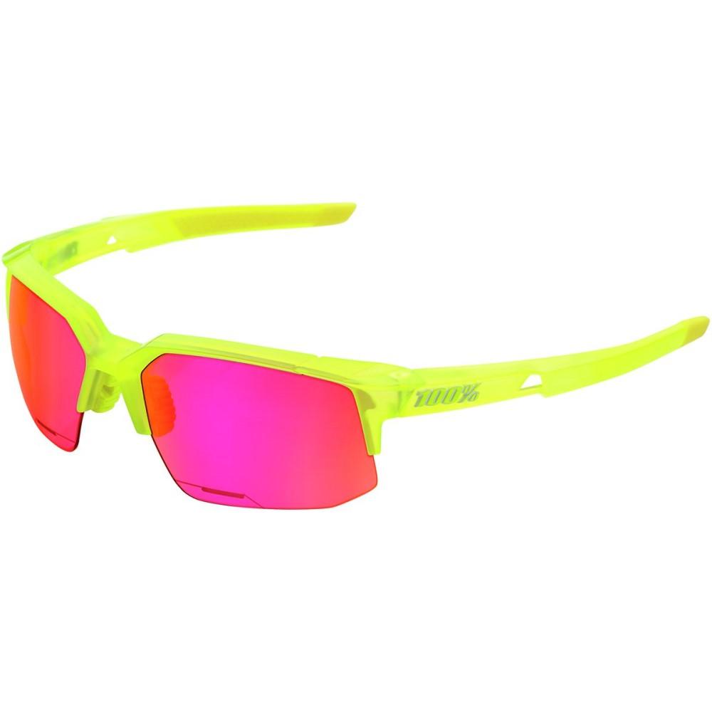 ヒャクパーセント レディース スポーツサングラス【Speedcoupe Sunglasses】Acidulous (With) Purple Multilayer Mirror Lens