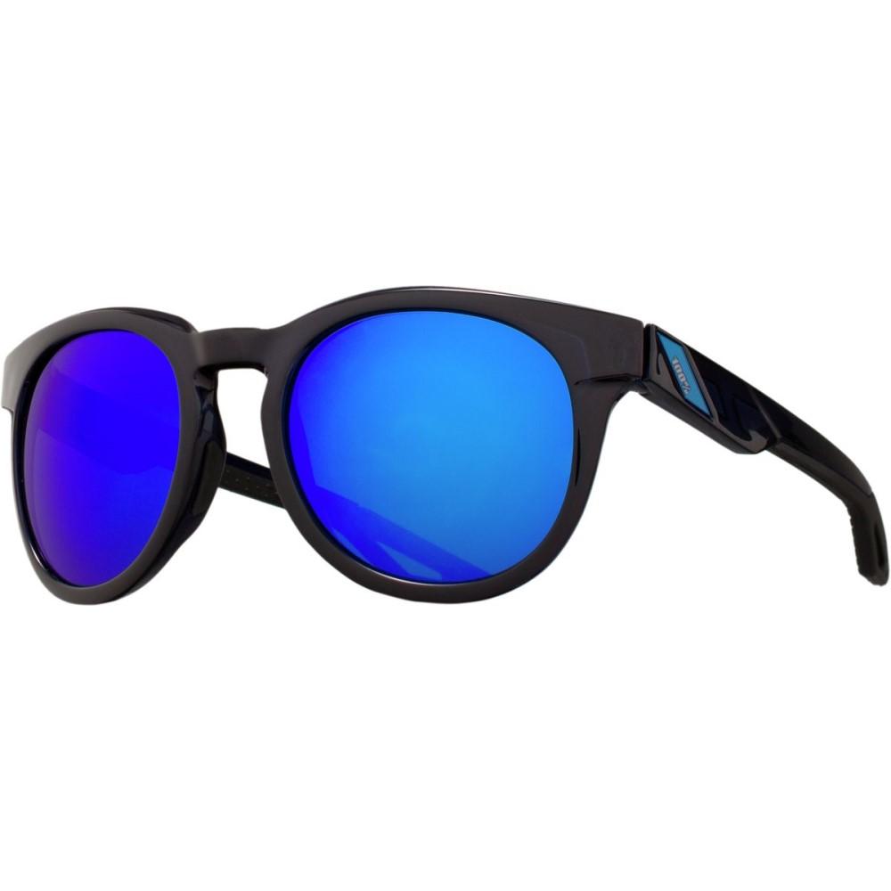 ヒャクパーセント レディース スポーツサングラス【Campo Sunglasses】Polished Transluscent Blue W/ Electric Blue Mirror Lens