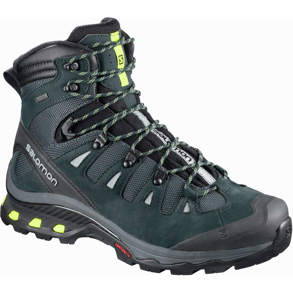 サロモン メンズ ハイキング・登山 シューズ・靴【Quest 4D 3 GTX Backpacking Boots】Mallard Blue/Reflecting Pond/Acid Lime