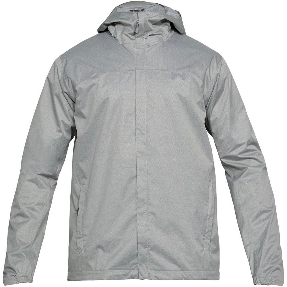 アンダーアーマー メンズ アウター レインコート【Overlook Jackets】True Gray Heather/Overcast Gray/Overcast Gray