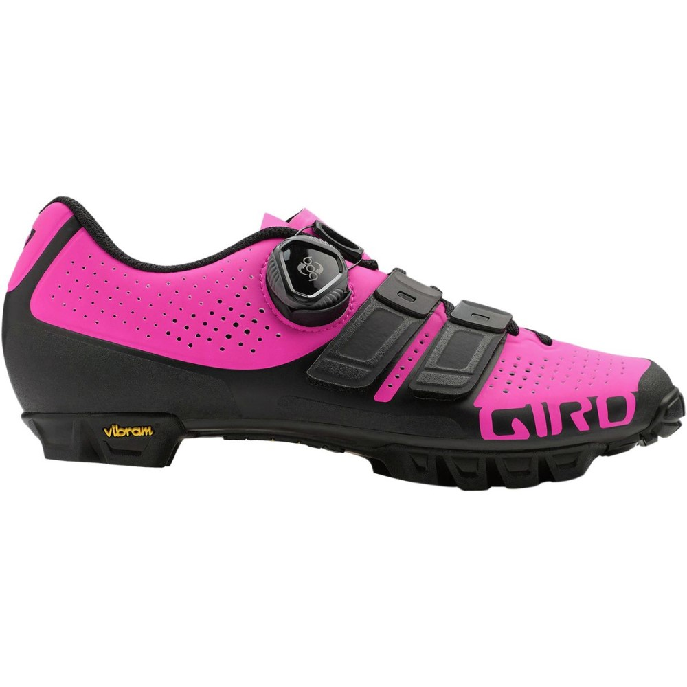 ジロ レディース 自転車 シューズ・靴【Sica Techlace Shoe】Black/Bright Pink