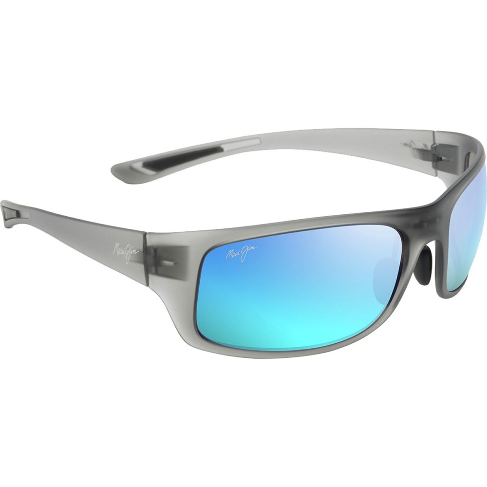 マウイジム レディース スポーツサングラス【Big Wave Polarized Sunglasses】Translucent Matte Grey
