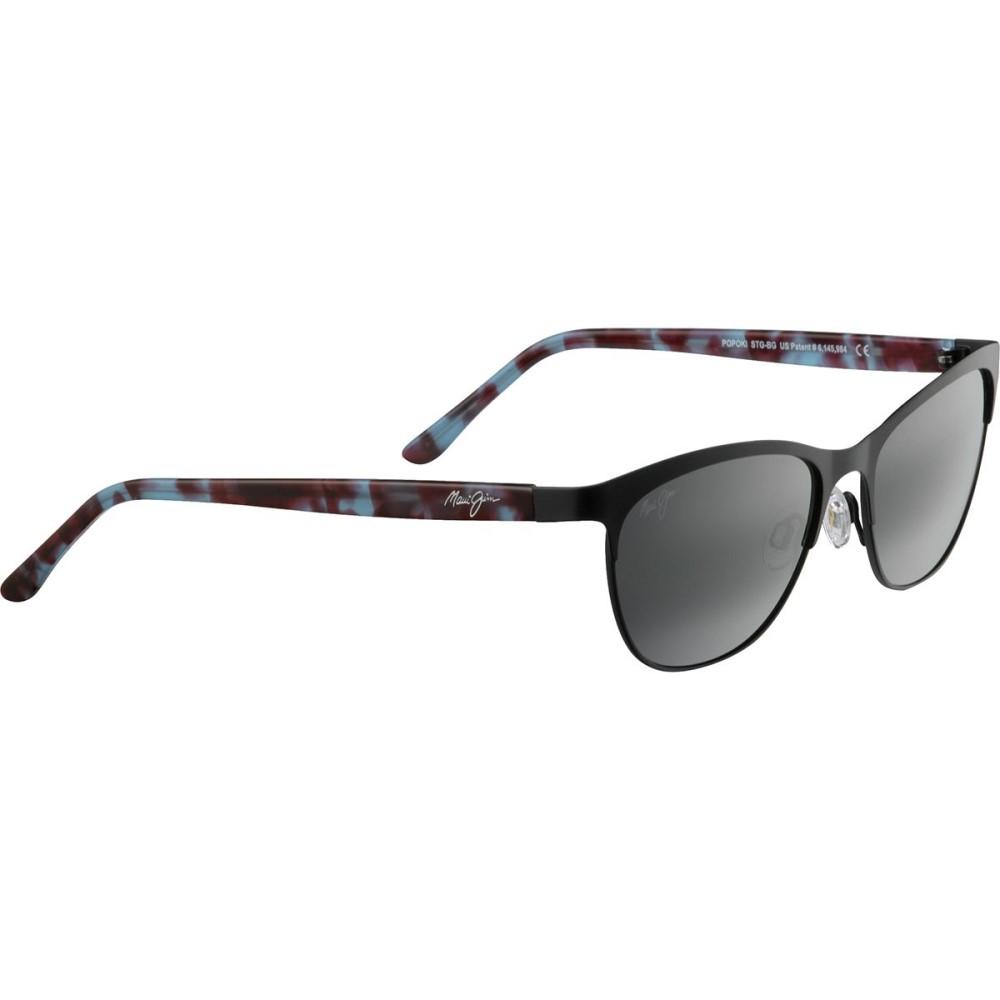 マウイジム レディース スポーツサングラス【Popoki Polarized Sunglasses】Satin Black