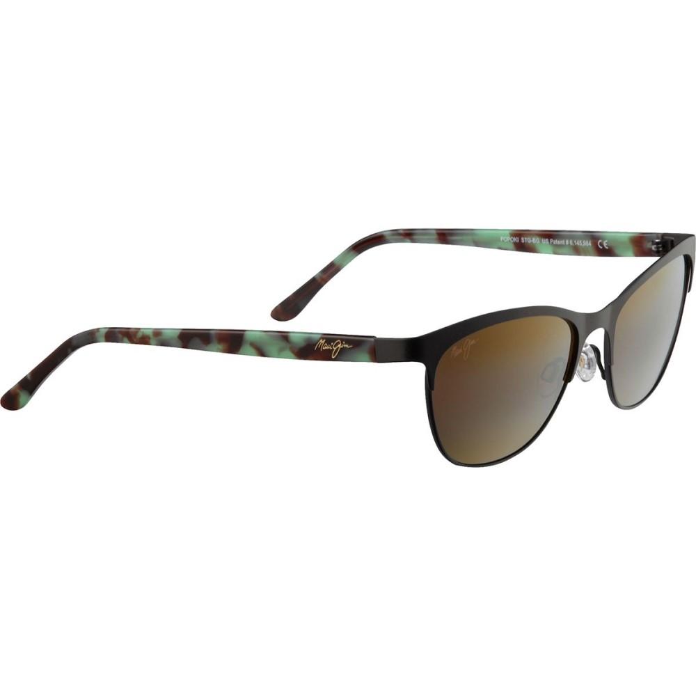 マウイジム レディース スポーツサングラス【Popoki Polarized Sunglasses】Satin Chocolate