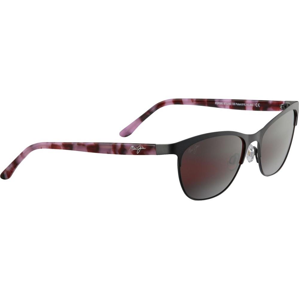 マウイジム レディース スポーツサングラス【Popoki Polarized Sunglasses】Satin Dark Gunmetal