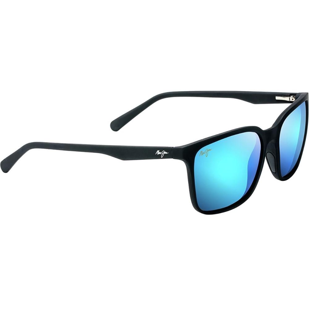 マウイジム レディース スポーツサングラス【Wild Coast Polarized Sunglasses】Matte Black Soft Touch