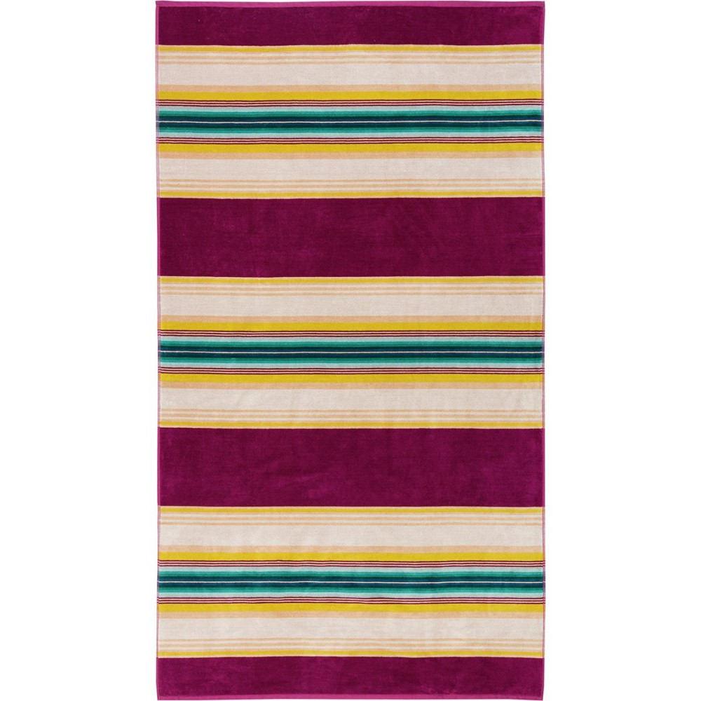 ペンドルトン レディース タオル【Oversized Spa Jacquard Towel】Serape Stripe Magenta